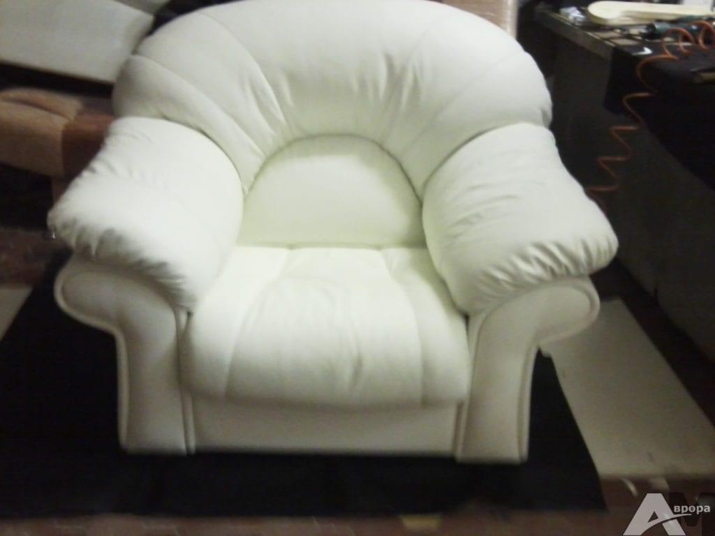 обивка кресла экокожей