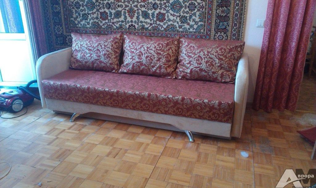 перетяжка дивана жаккард фото 2