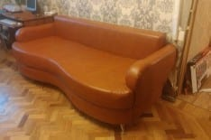 перетяжка дивана кожей фото 1