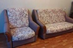 Перетяжка дивана и кресла фото 1