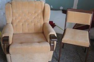 обивка кресла и стула в одну ткань