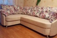 Угловой диван после ремонта