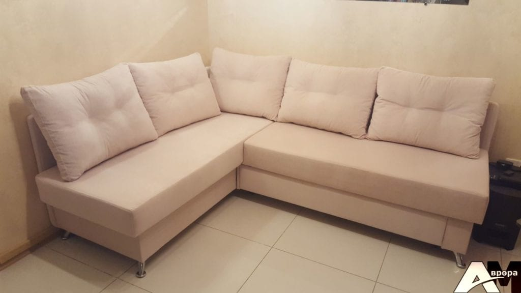 Угловой диван перетяжка фото 16