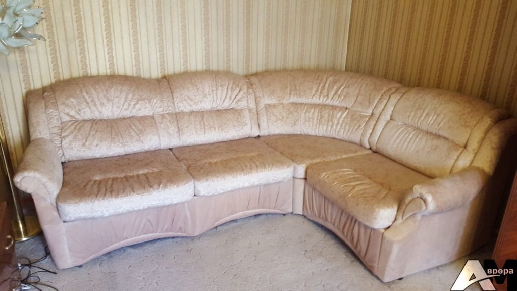 ремонт и перетяжка углового дивана фото 18