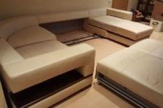 Перетяжка большого углового дивана фото 25