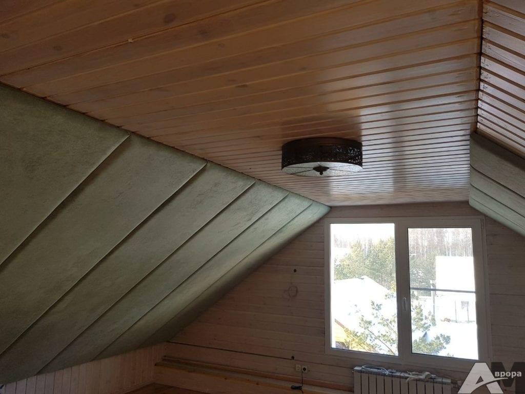 обивка потолка мягкими панелями