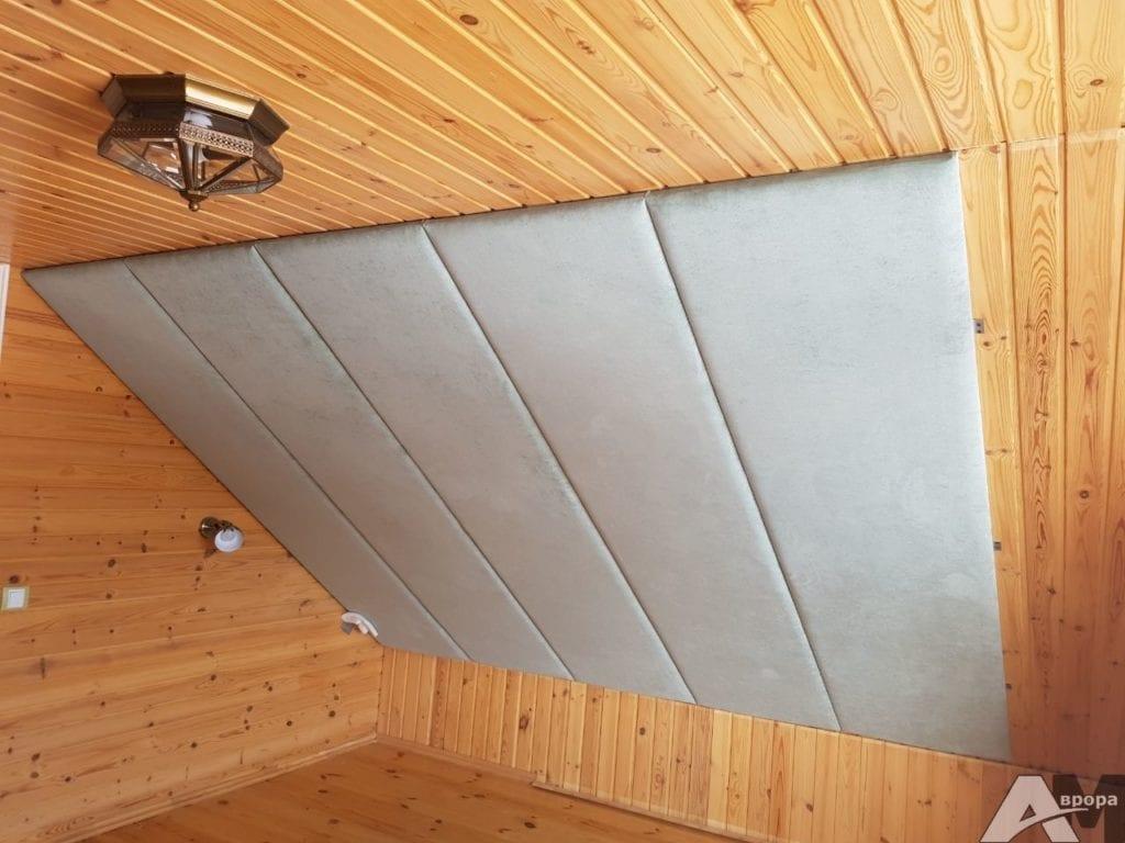 Мягкие панели на потолок фото 1