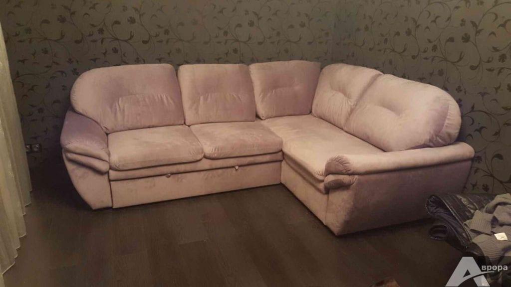 перетяжка углового дивана фото 7
