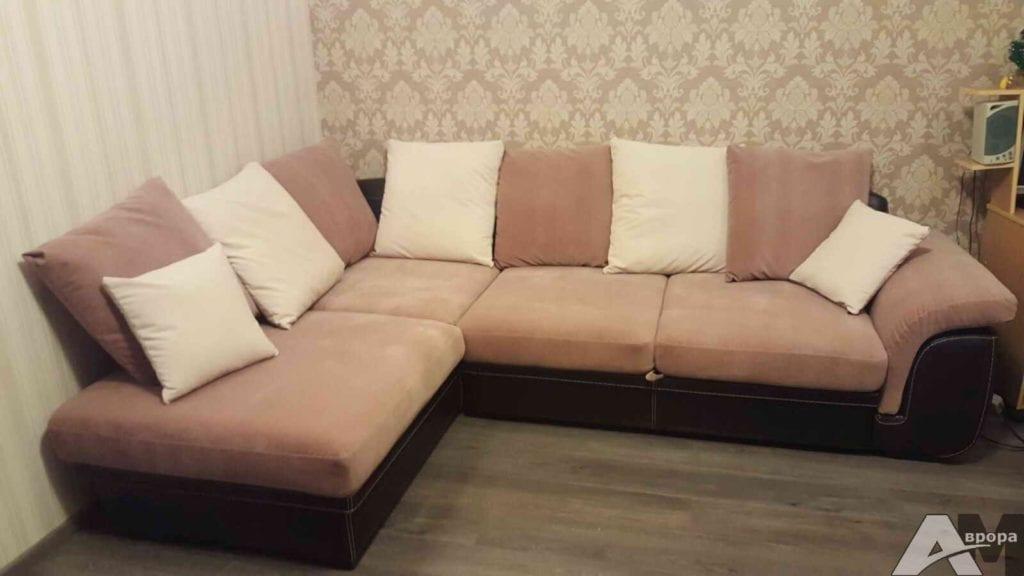 перетяжка углового дивана фото 6