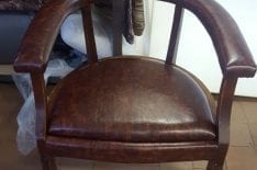Обивка стула кожей фото 4