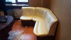 перетяжка кухонного углового дивана