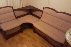 Перетяжка углового дивана фото 11