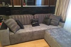 Перетяжка дивана с кушеткой фото 3