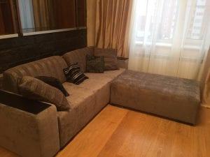 Перетяжка дивана с кушеткой фото 2