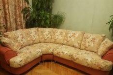 Перетяжка углового дивана спб фото