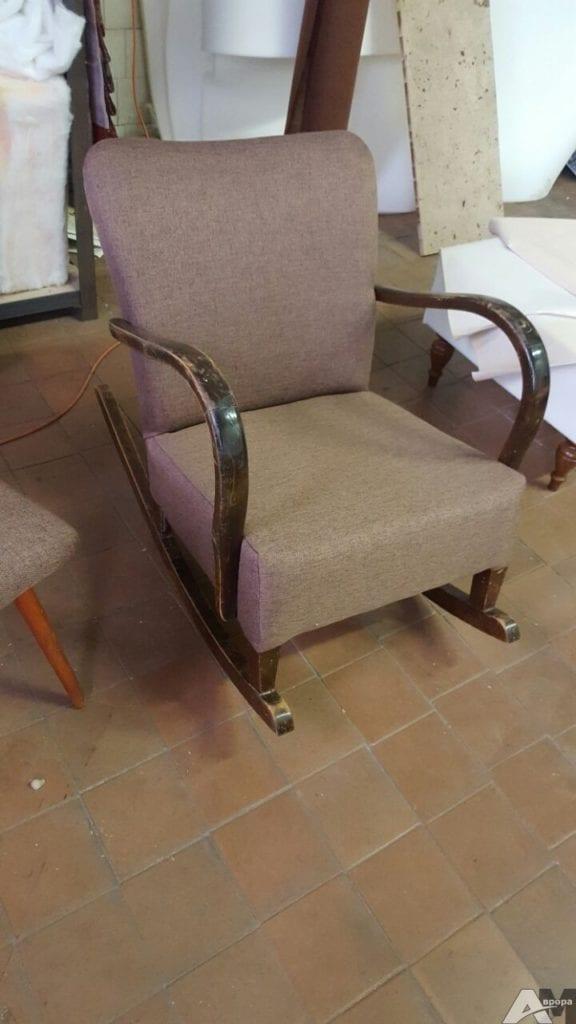Перетяжка кресла качалки фото ПОСЛЕ