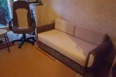 Перетяжка дивана во флок фото 14