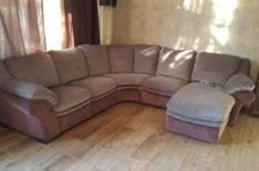 Перетяжка углового дивана фото 32