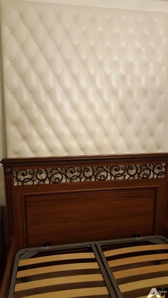 Мягкая кожаная стеновая панель фото 4