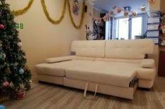 Перетяжка углового дивана фото 49