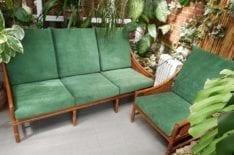 Перетяжка подушек садовой мебели фото 1