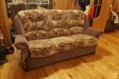 Перетяжка трехместного дивана фото 24