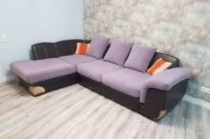 Перетяжка углового дивана фото 54