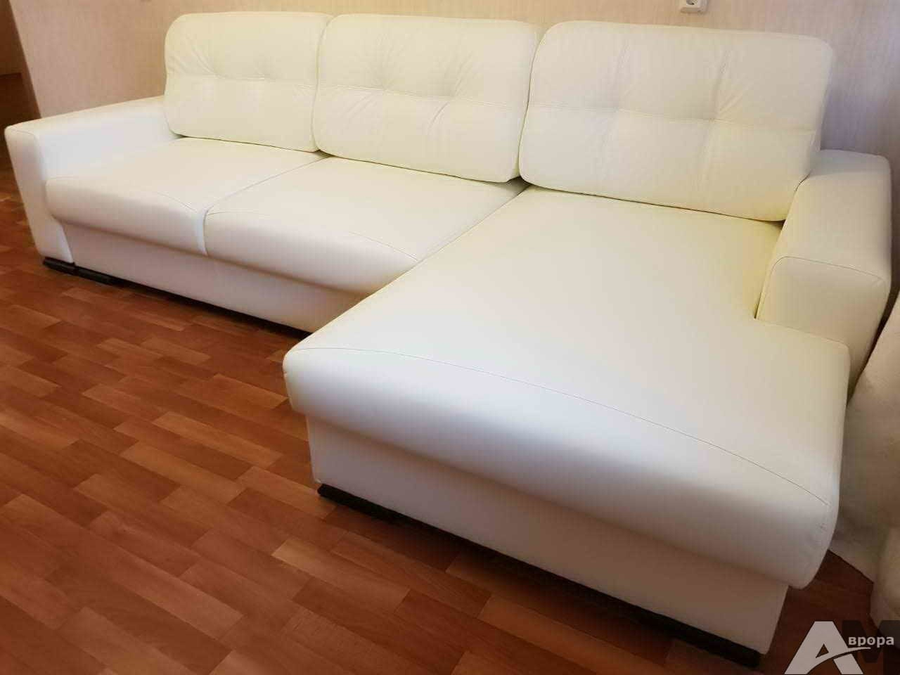Перетяжка углового дивана в кожзам фото 14