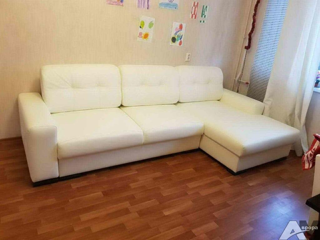 Перетяжка углового дивана в кожзам фото 15