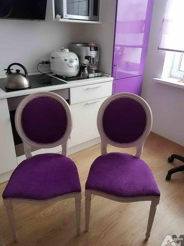 Перетяжка обеденных стульев фото 2