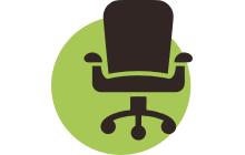 Перетяжка офисной мебели лого